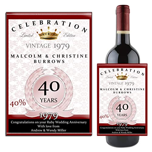 40th Wedding Anniversary Gift Ideas For Friends: Ruby Anniversary Gifts: Amazon.co.uk
