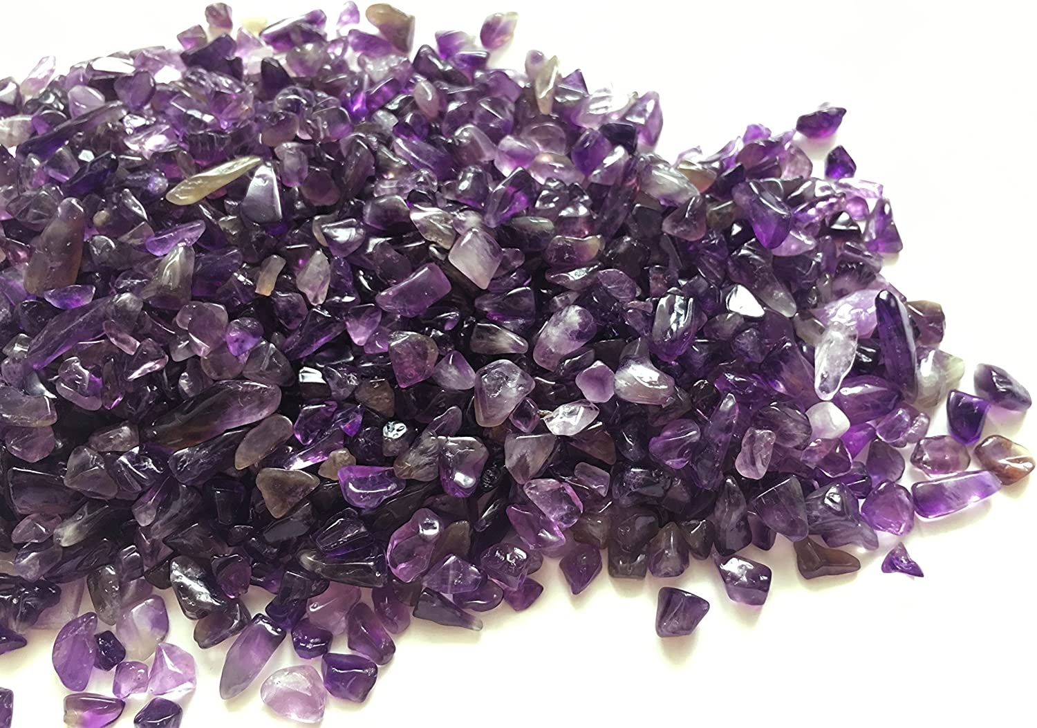rockcloud 1 lb Amethyst Small Tumbled Chips Crushed Stone Healing Reiki Crystal
