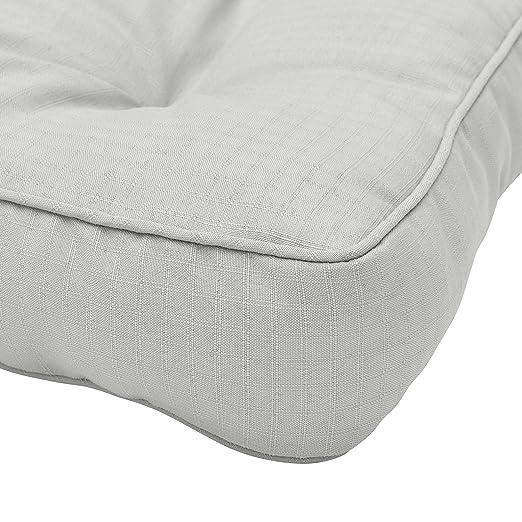 Beautissu Cojines para Muebles de jardín XLuna Lounge sillas de Mimbre de Exterior Asiento Grueso Acolchado Aprox. 40x40x10 cm Gris Claro
