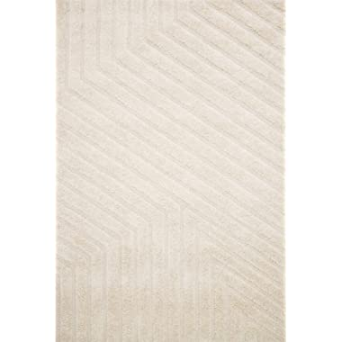 Now House by Jonathan Adler Matrix Collection Area Rug, 7'7  X 9'6 , Ivory