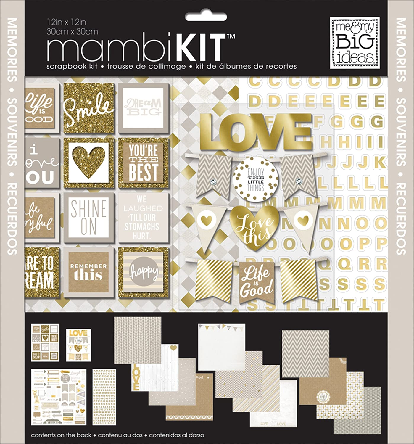 Me and My BIG Ideas All About Neutrals Page Kits, 12-Inch by 12-Inch SRK-154