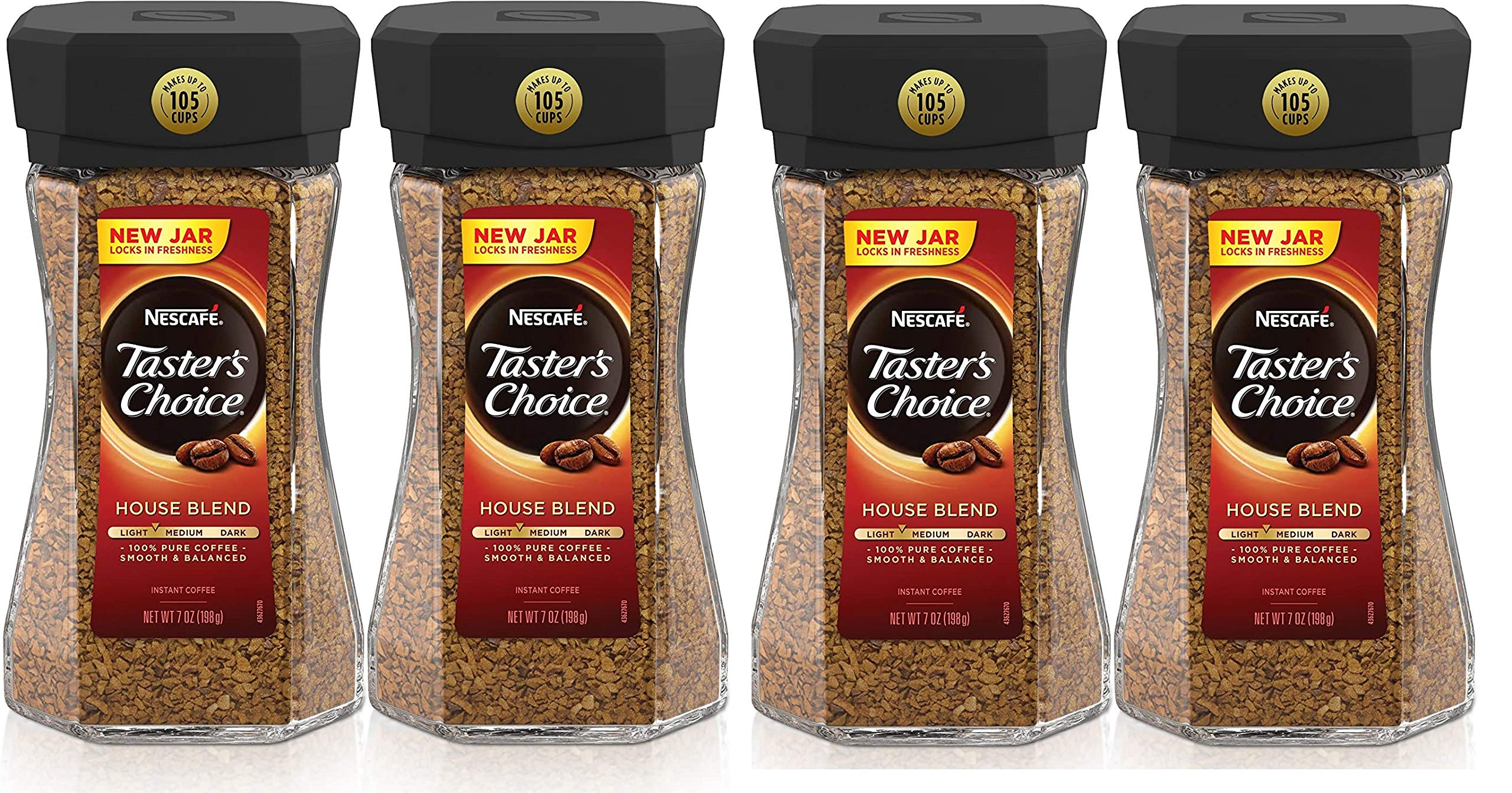 Taster's Choice Nescafe House Blend Instant Coffee, 7 Ounce (Pack of 4)