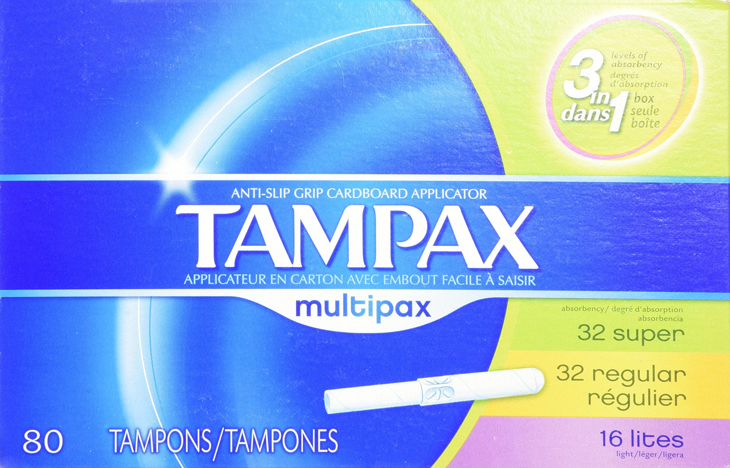 Tampax Multi-Pack Size 80s