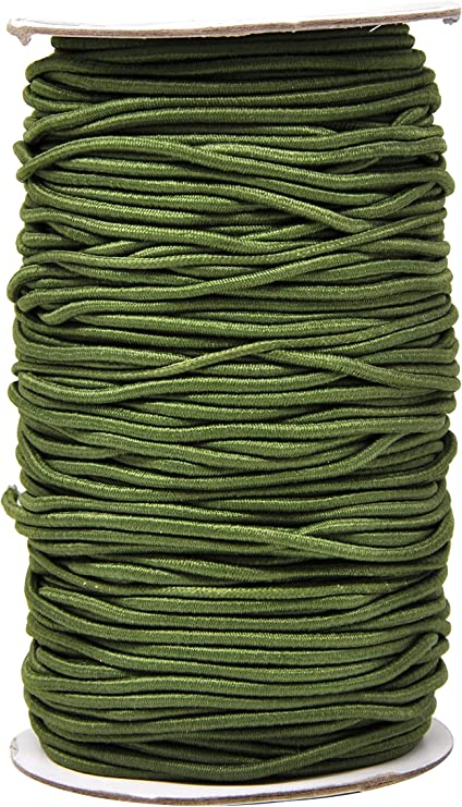 100 Meters Olive Green Waxed Cotton Beading Cord 1mm for Bracelet Necklace