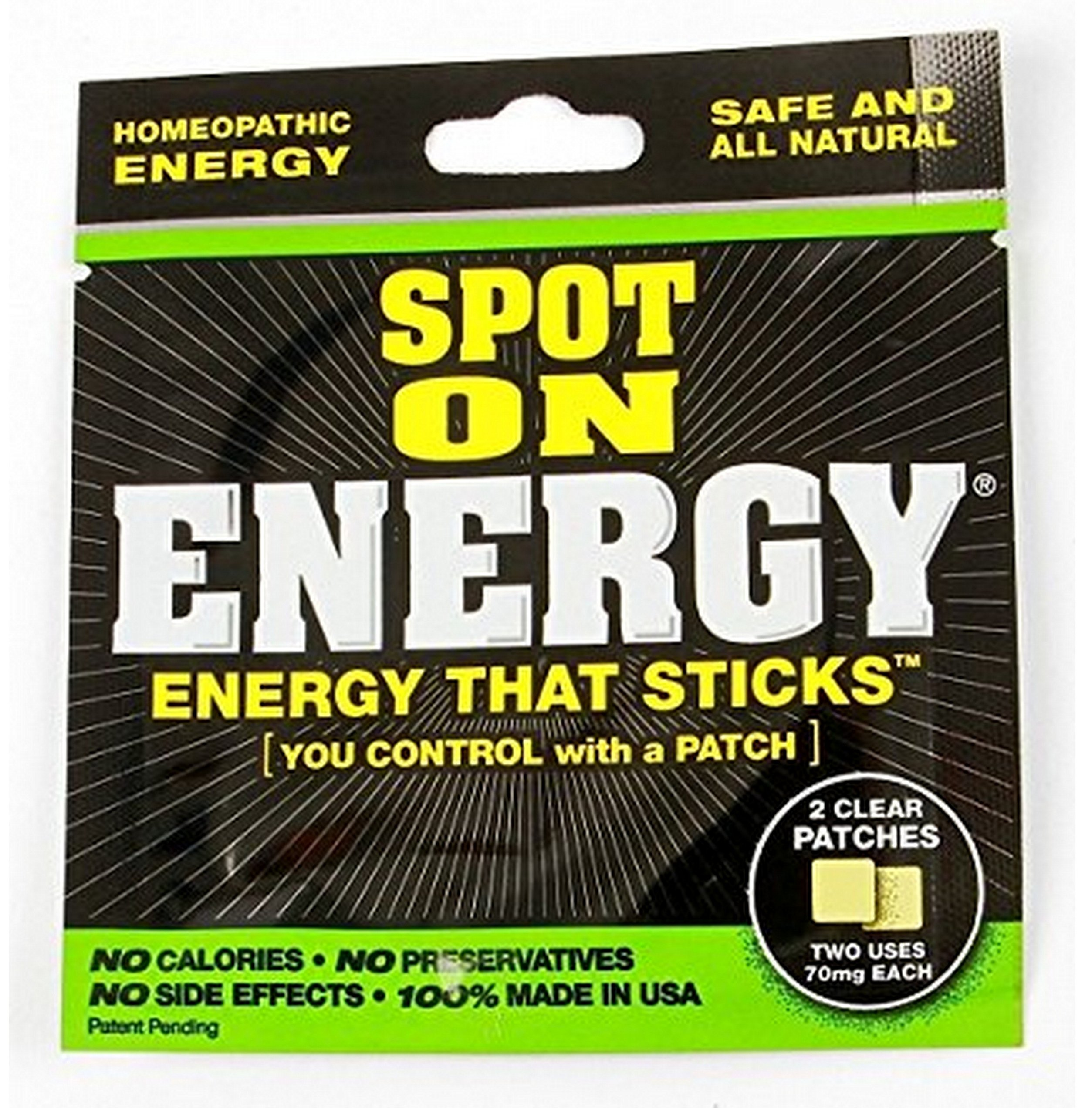 Homeopathic energy Spot On Energy all natural - 10 pack (20 patches)