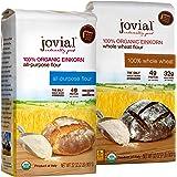 Jovial Einkorn Baking Flour Variety Pack   100% Organic Einkorn All Purpose Flour & 100% Organic Whole Wheat Einkorn Flour  