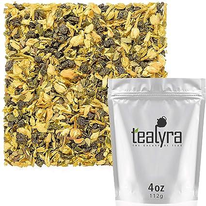 Taiwanese Oolong Blended with Lemon Myrtle Tealyra 110g Loose Leaf Tea Oolong Lemon Blossoms 4-ounce Medium Caffeine