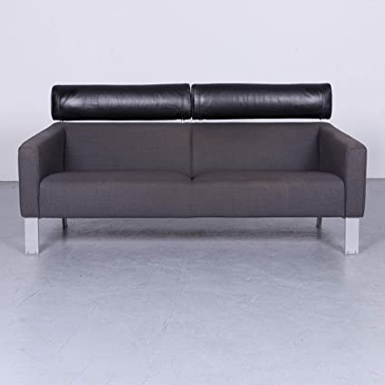 Leolux Patachou Designer Stoff Sofa Grau Zweisitzer Couch #6603