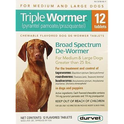 Durvet 12-pack Triple Wormer Tablets