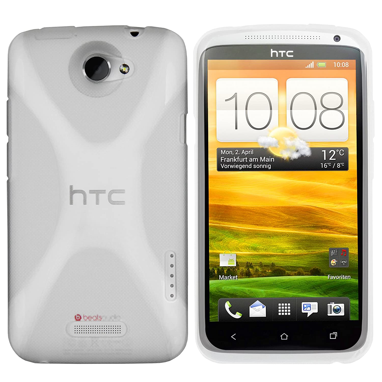 mumbi X-TPU Silikon Schutzh/ülle f/ür HTC ONE X transparent wei/ß