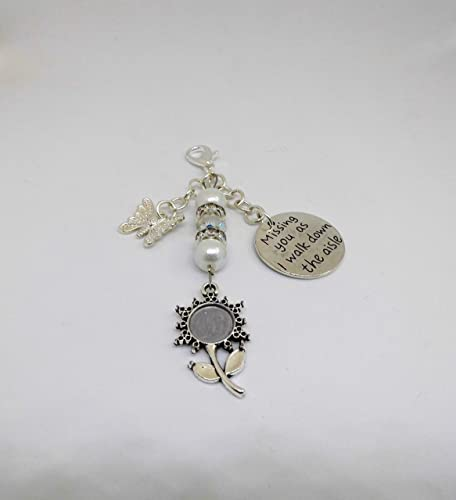 Wedding Bridal Bouquet Photo Charm Handmade Memorial Photo Charm