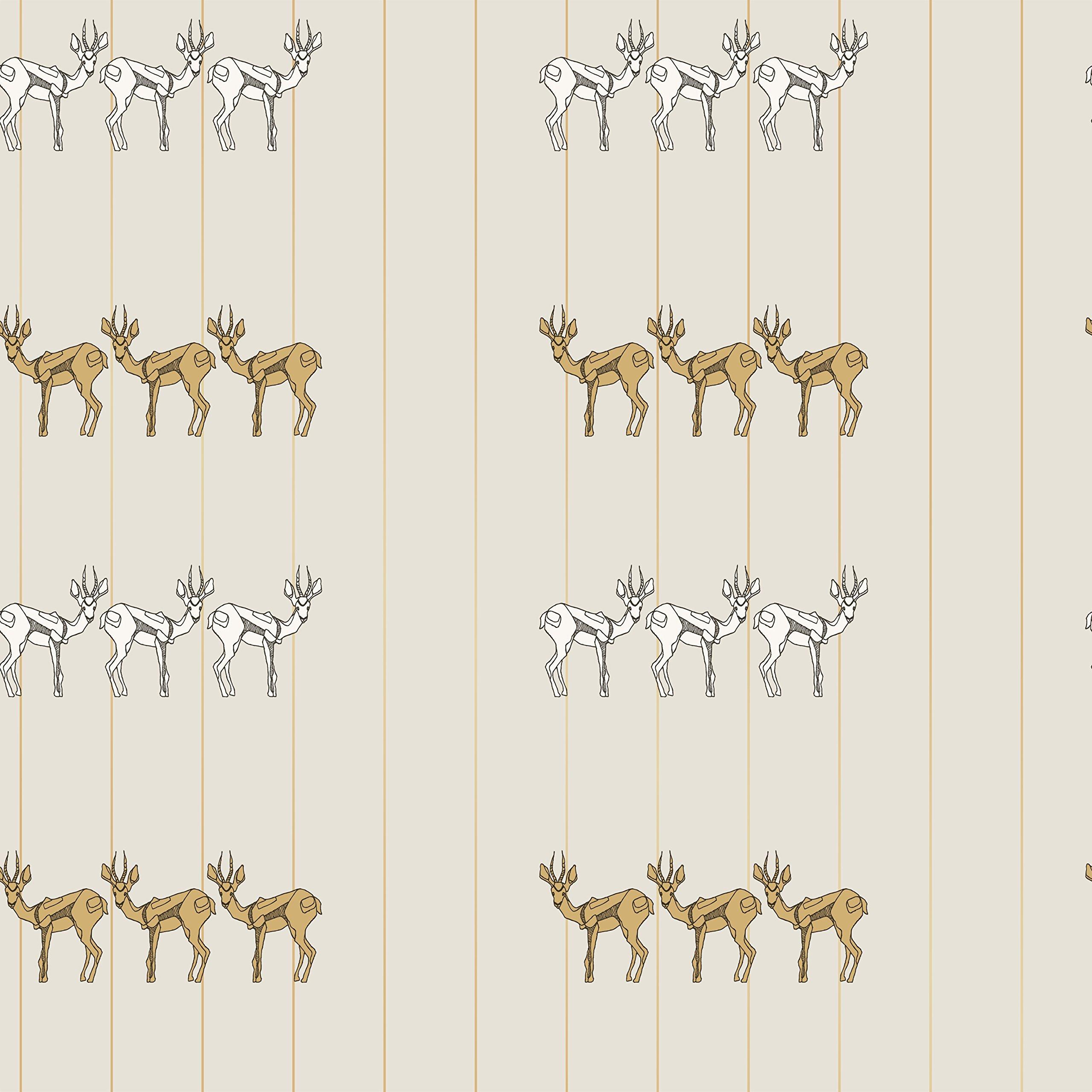 Novogratz DE475 Spirit Animal Removable Wallpaper, 20.5'' W x 16.5' Long, Ivory
