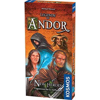 Thames & Kosmos Legends of Andor New Heroes 5 and 6 Player Expansion Cooperative, Family, Strategy Board Game by Kosmos | Expand The Award Winning Game Legends of Andor, Multi, 11.6 (692261): Toys & Games