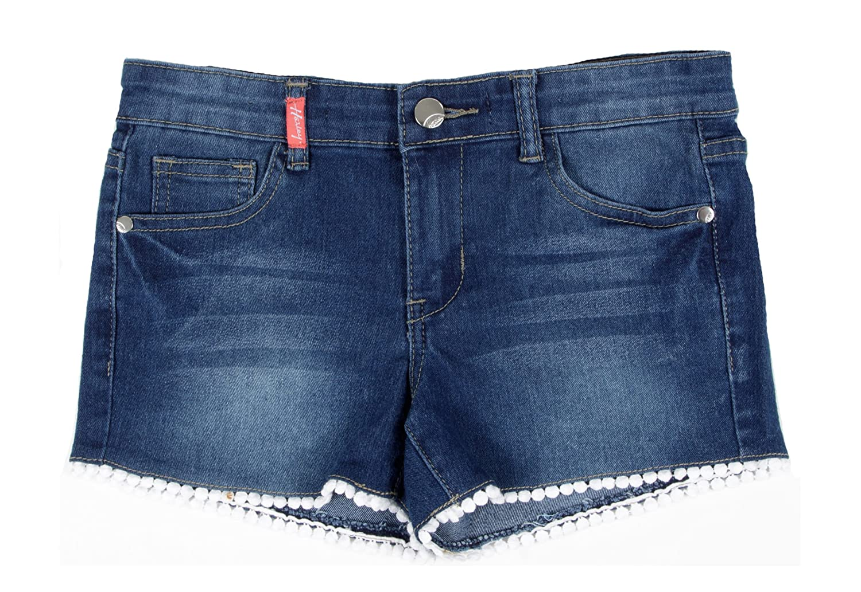 0b5e36bd9e Top1: Fashion2Love 9H072(SH) - Girls' Stretch 5 Pockets Denim Jeans Shorts  with Laced Hem
