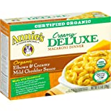Annie's Organic Macaroni and Cheese, Elbows & Creamy Mild Cheddar Sauce Mac and Cheese, 9.5 oz Box (Pack of 6)