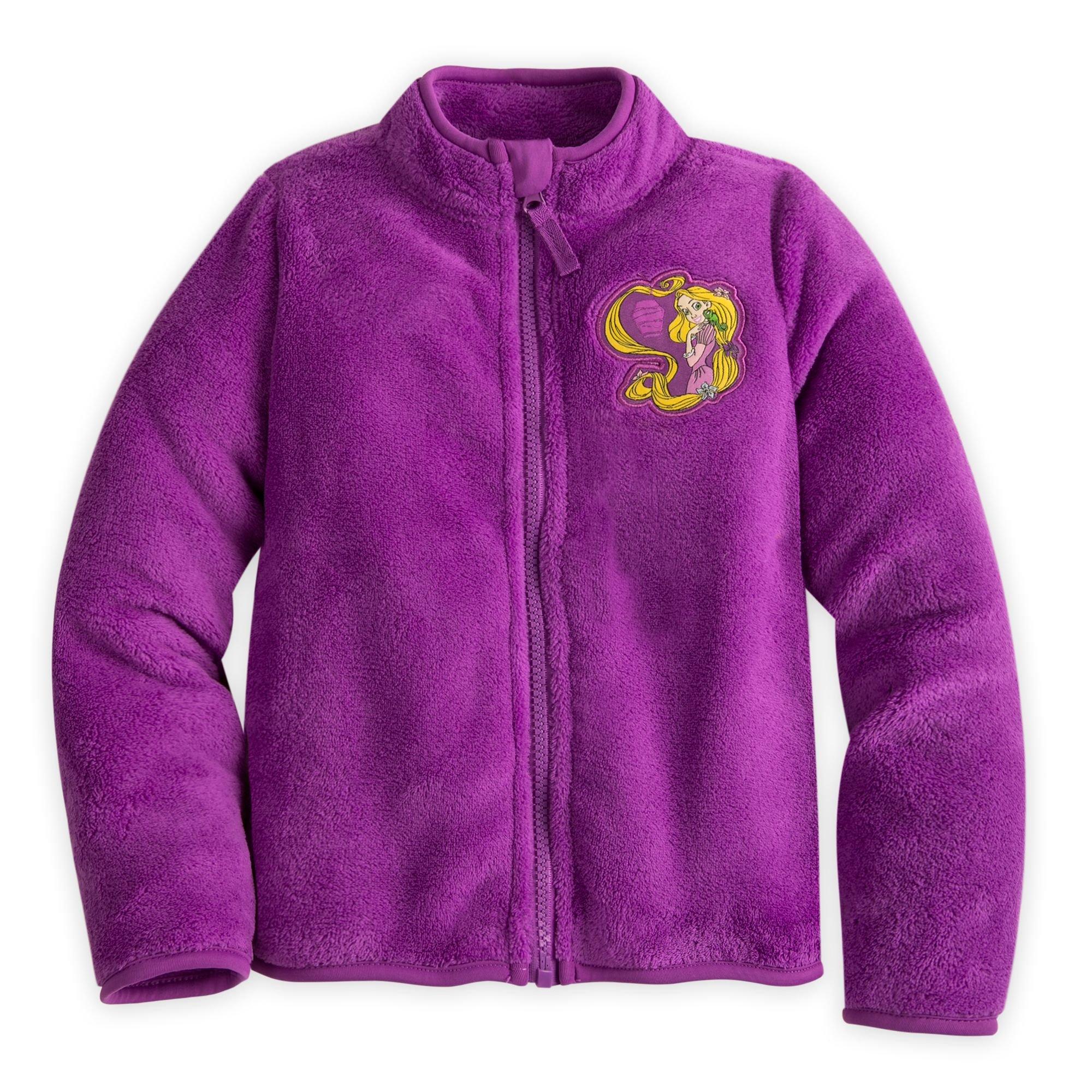 Disney Rapunzel Fleece Jacket for Girls Size 3 Purple by Disney