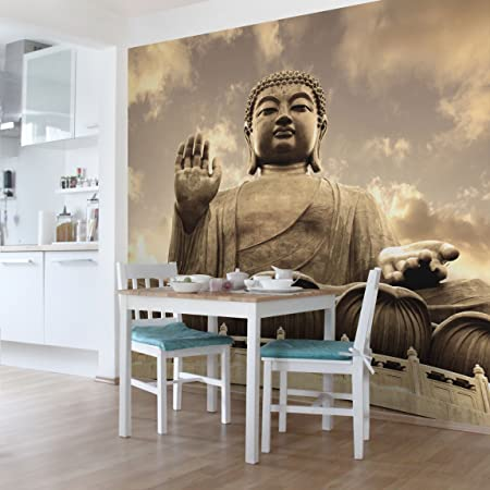 Charmant Non Woven Wallpaper   Big Buddha Sepia   Mural Square Format Wallpaper Wall  Mural Photo