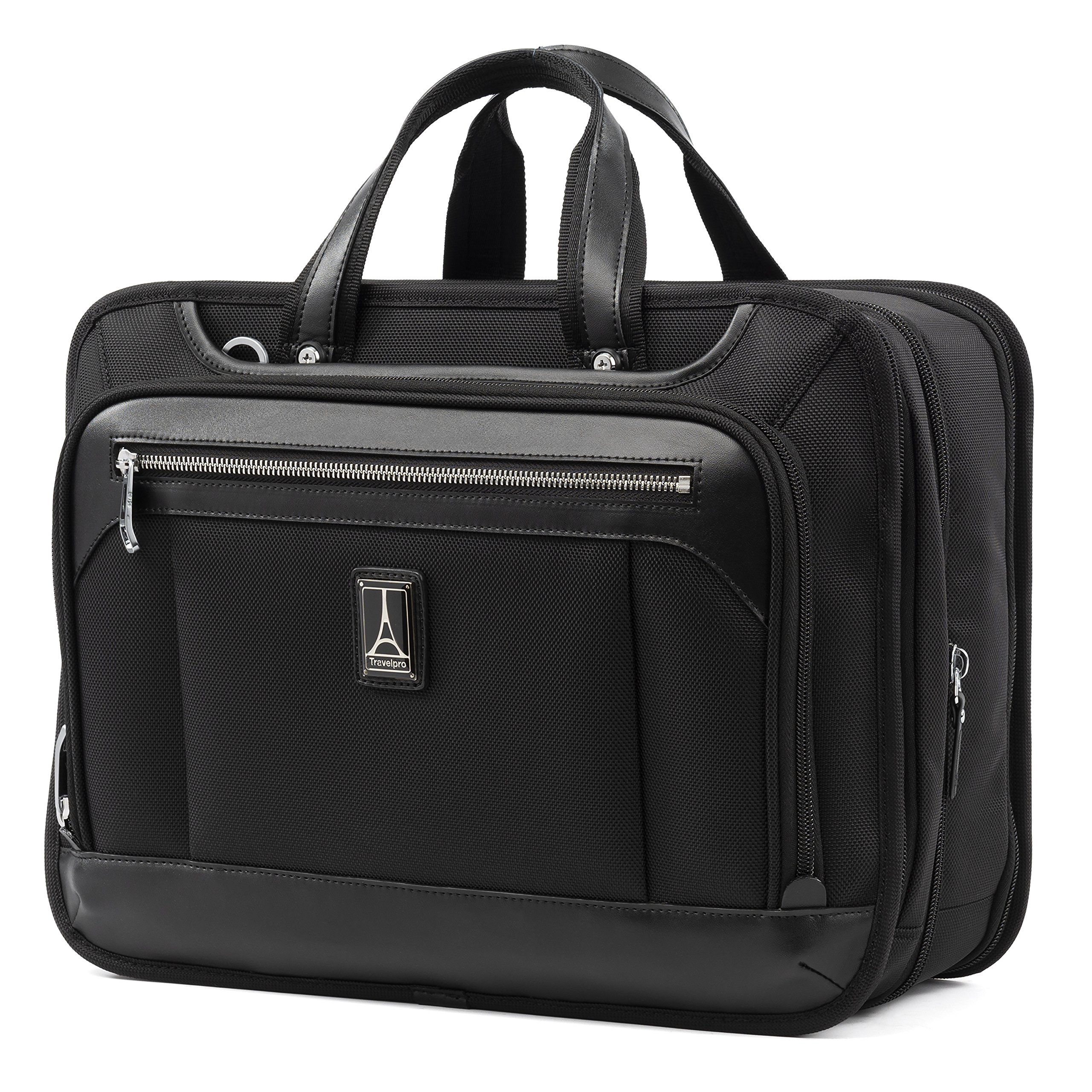 Travelpro Luggage Platinum Elite 16'' Expandable Business Briefcase, Shadow Black, One Size