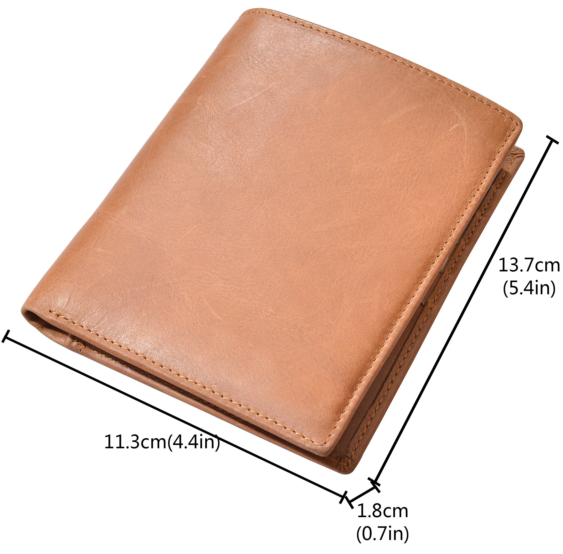 Outrip Genuine Leather Passport Wallet RFID Blocking Travel Card/Passport Holder (Brown) by Outrip (Image #5)