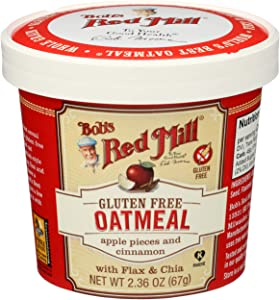 Bob's Red Mill Gluten-Free Apple Cinnamon Oatmeal, 2.36 Ounce, Pack of 12