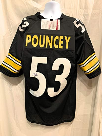 46c8d65fb3d Maurkice Pouncey Pittsburgh Steelers Signed Autograph Black Custom Jersey  JSA Witnessed Certified