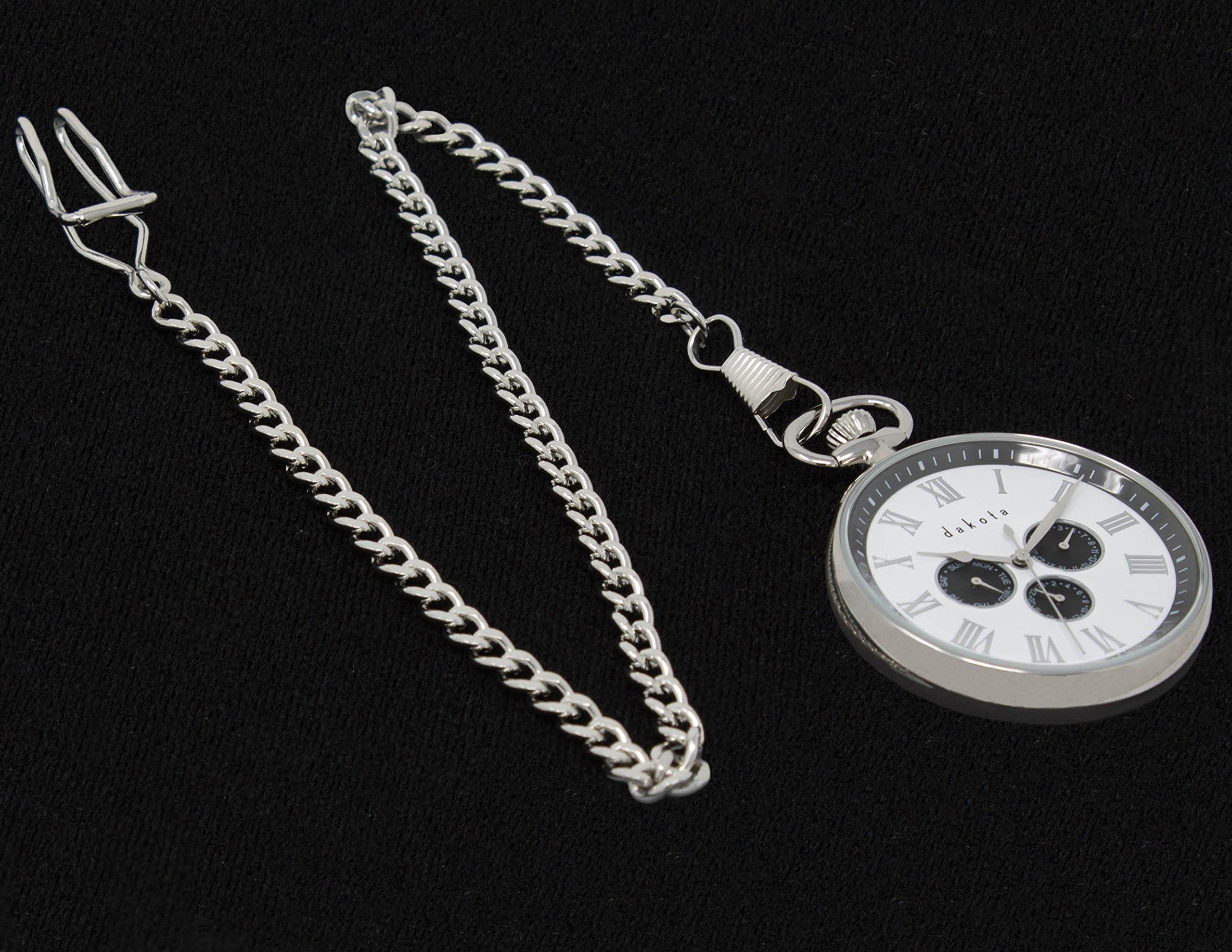 Engravable pocket watch by Dakota, Silver by Dakota (Image #3)