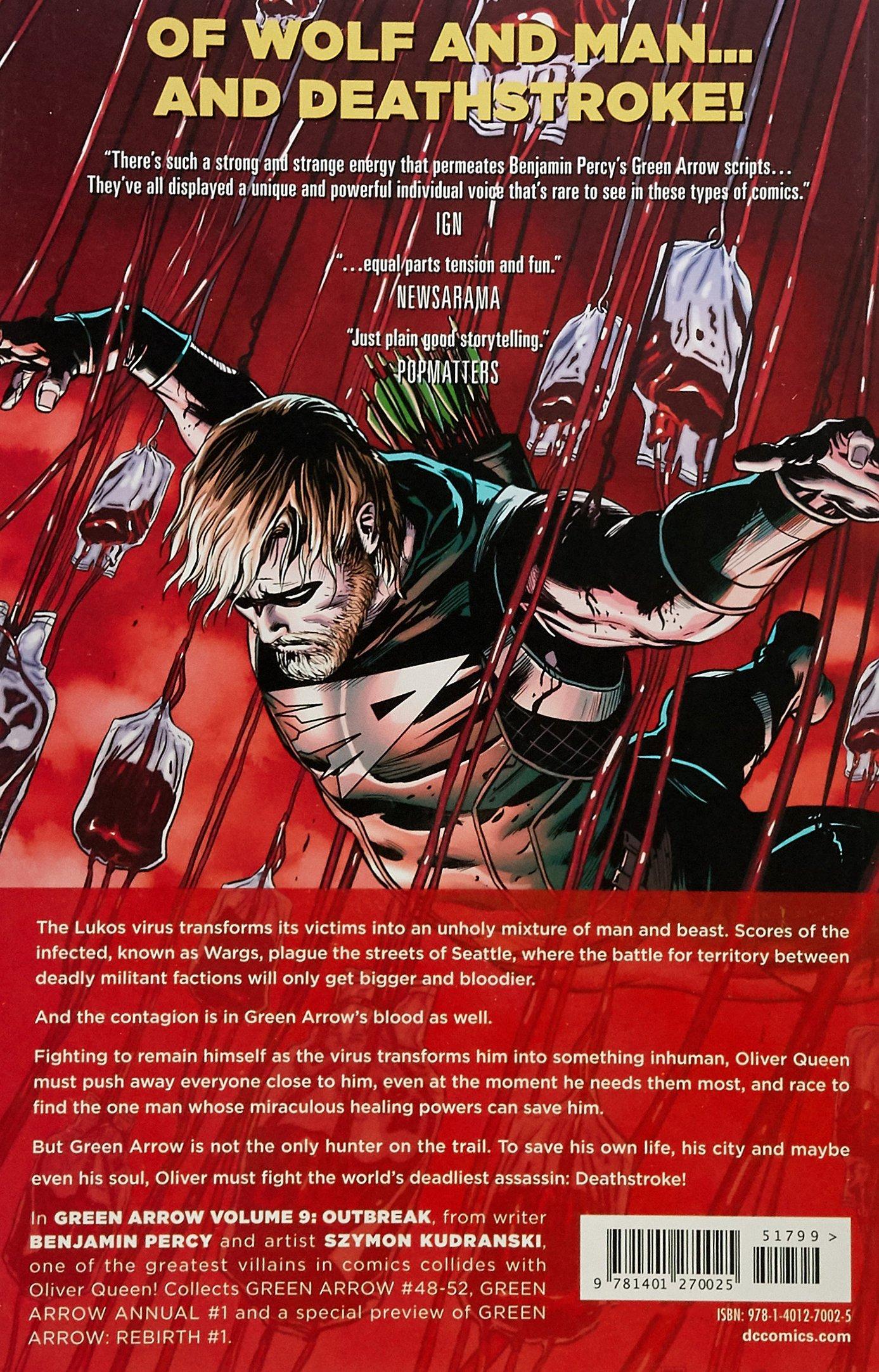 Amazon Green Arrow Vol 9 Outbreak 9781401270025 Benjamin Percy Books