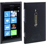 Works with Nokia Licensed Airflow Case Cover for Nokia Lumia 800 - Black