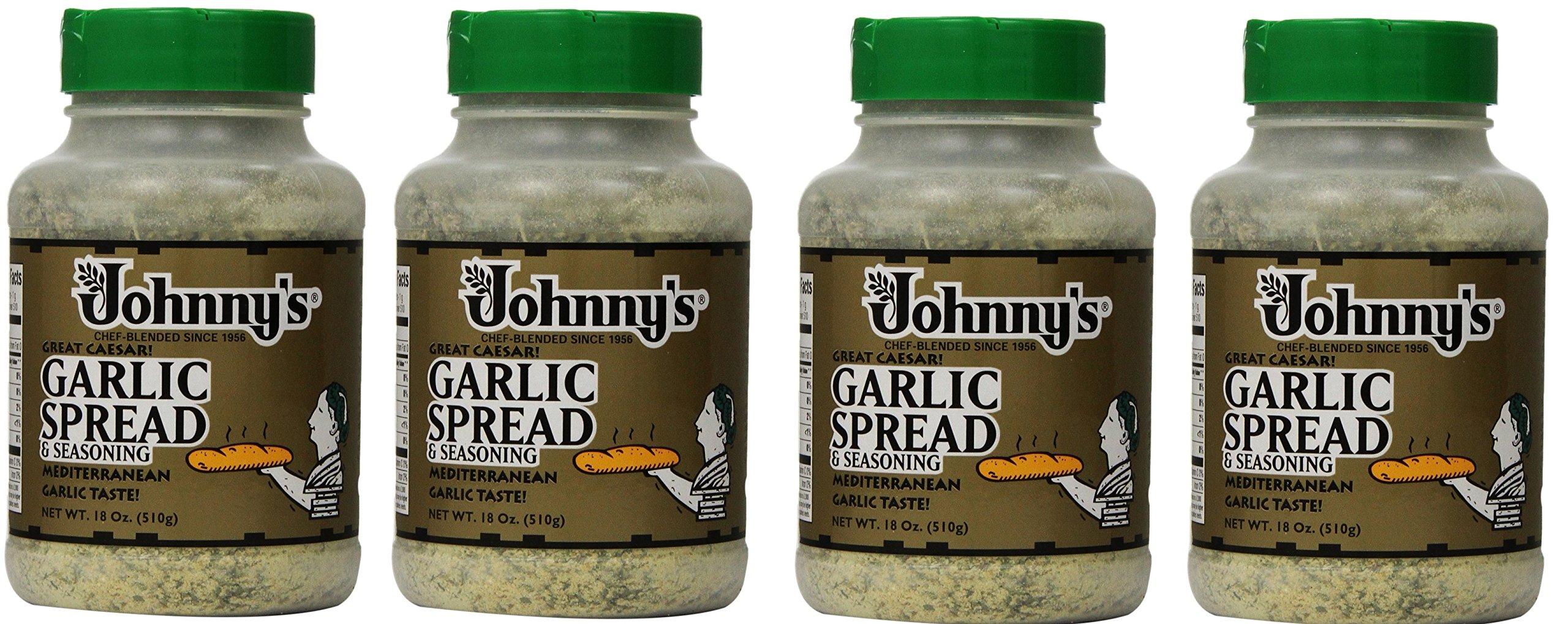 Johnnys Garlic Spread and Seasoning XjECar, 4Pack (18 Ounce)