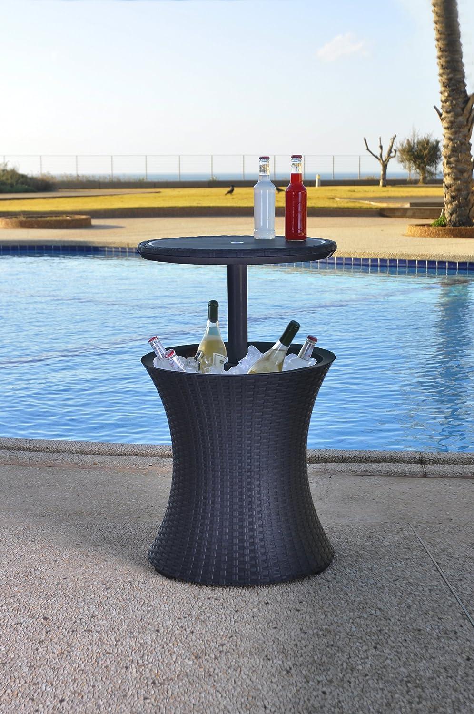 Amazon.de: Keter Pacific Cool Bar, Beistelltisch mit Kühlmöglichkeit ...