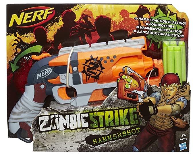Amazoncom Nerf Zombie Strike Hammershot Blaster Toys Games