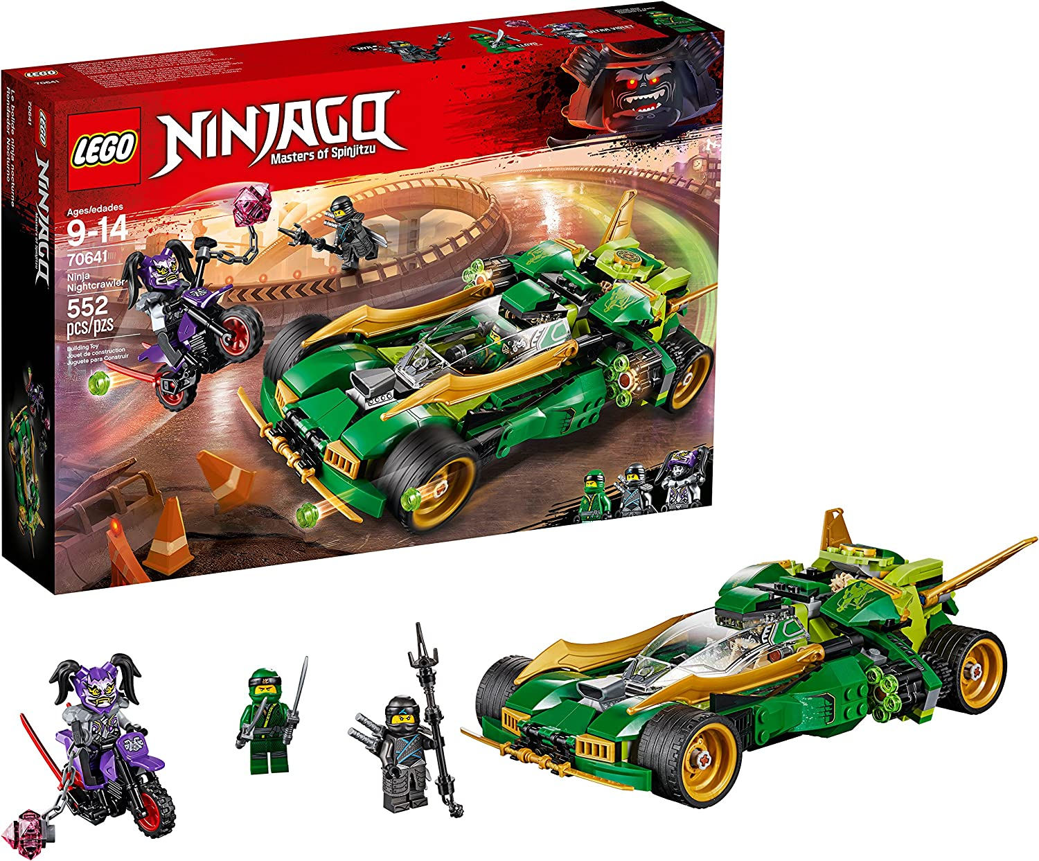 LEGO NINJAGO Ninja Nightcrawler 70641 Building Kit (552 Pieces)