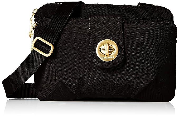 Baggallini Toronto Crossbody Bag Gold Hardware Organizational Pockets with  Lightweight Nylon