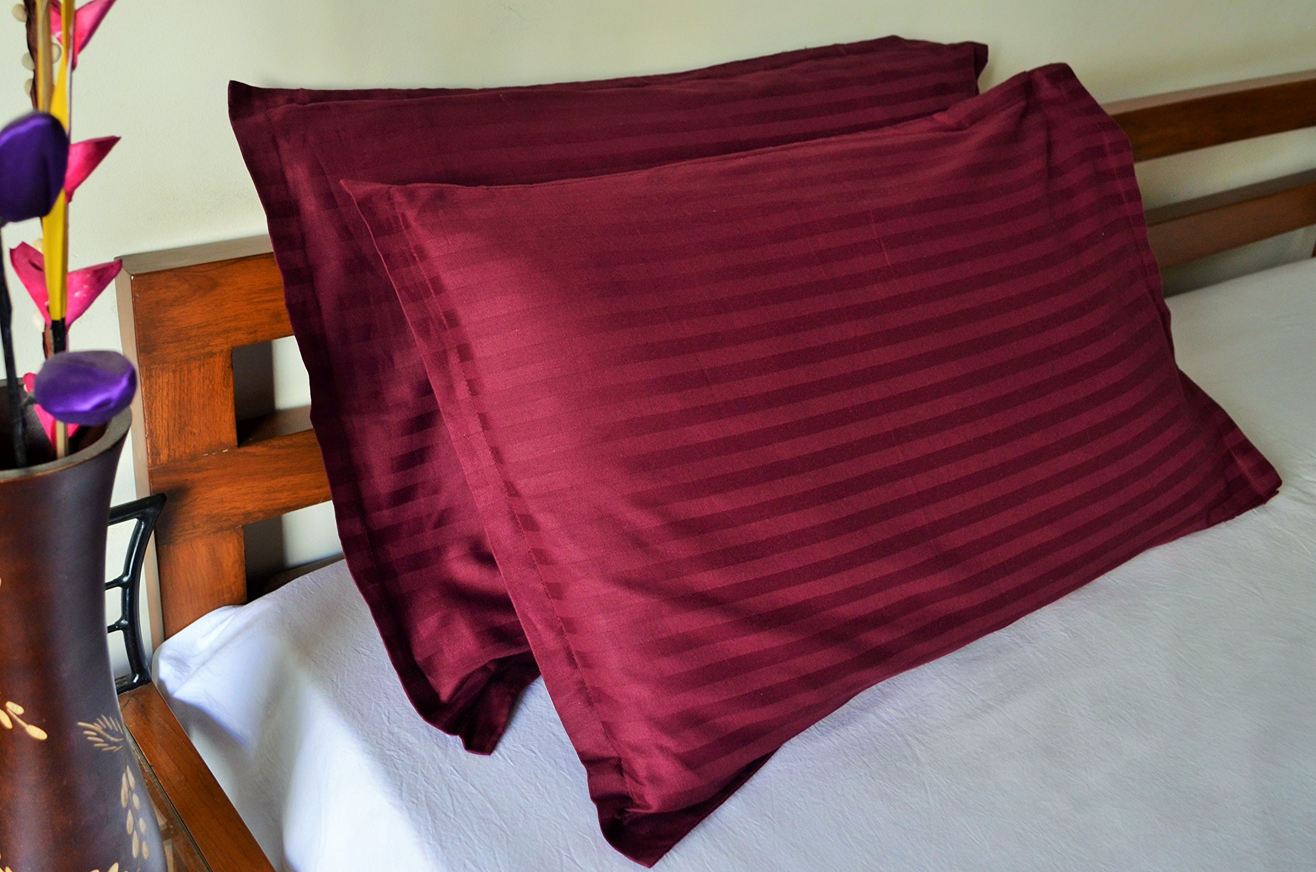 "Trance Home Linen 20 X 30"" Cotton Pillow Covers (Deep Wine) -Pack of 2 product image"