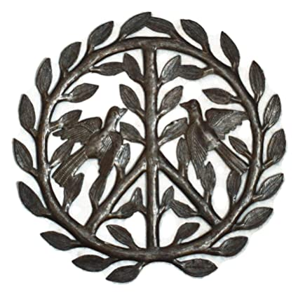 Amazon.com: it\'s cactus - metal art haiti Peace Sign Haitian Metal ...