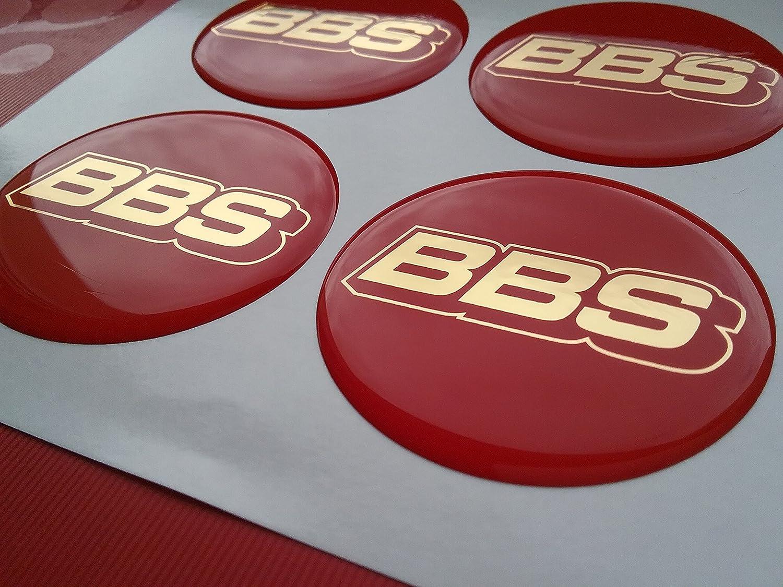 4 x BBS Llanta Tapa, buje Tapa Pegatinas en rojo oro 55 mm: Amazon.es: Coche y moto