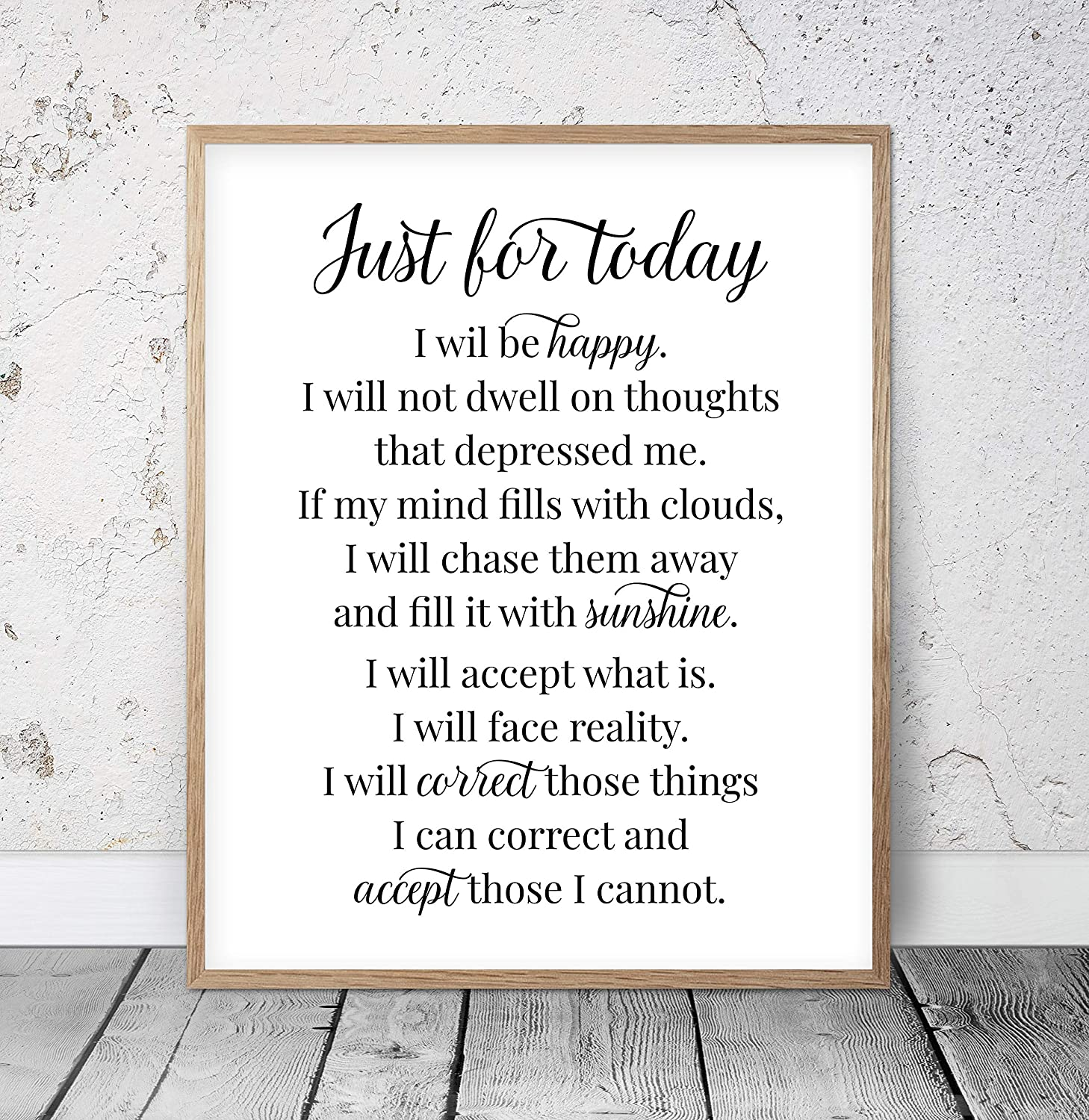 MalertaART Just For Today I Will Be Happy Printable Office Quotes