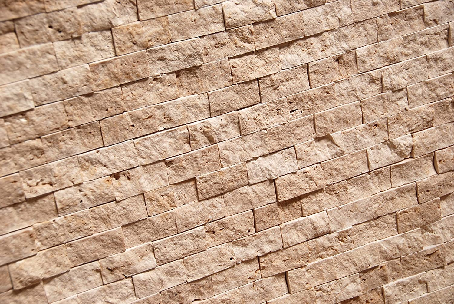 Light 1 X 2 Split Face Travertine Mosaic Tile Marble Tiles