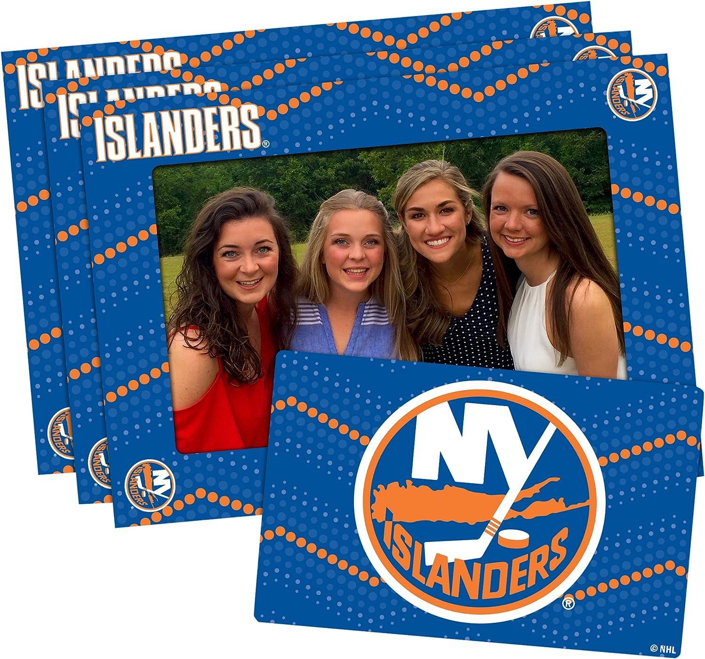 NHL Magnetic Frame /& Bonus Magnet Blue 3 Pack 4-inch by 6-inch