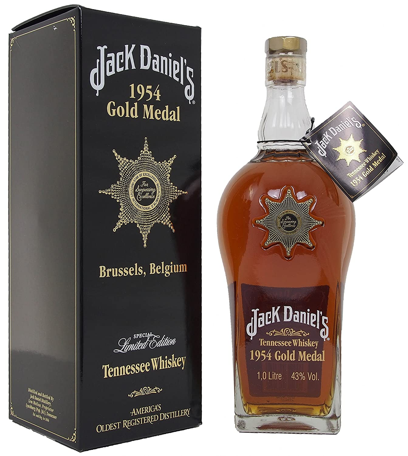 Jack Daniels 1954 Gold Medal Tennessee Whisky, 100 cl: Amazon.co.uk ...