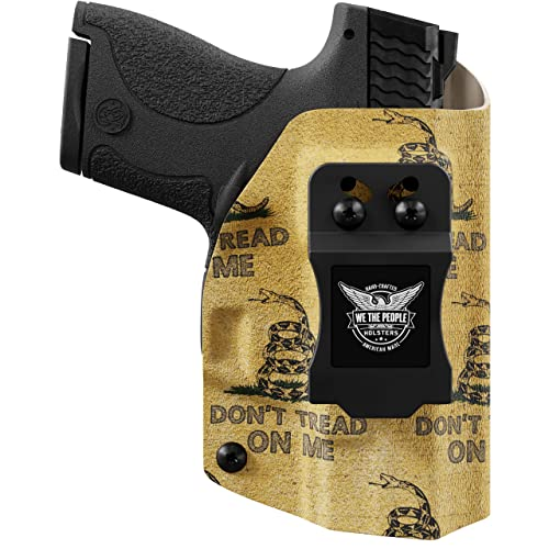 We The People - Gadsden Flag - Inside Waistband Concealed Carry - IWB Kydex Holster - Adjustable Ride/Cant/Retention