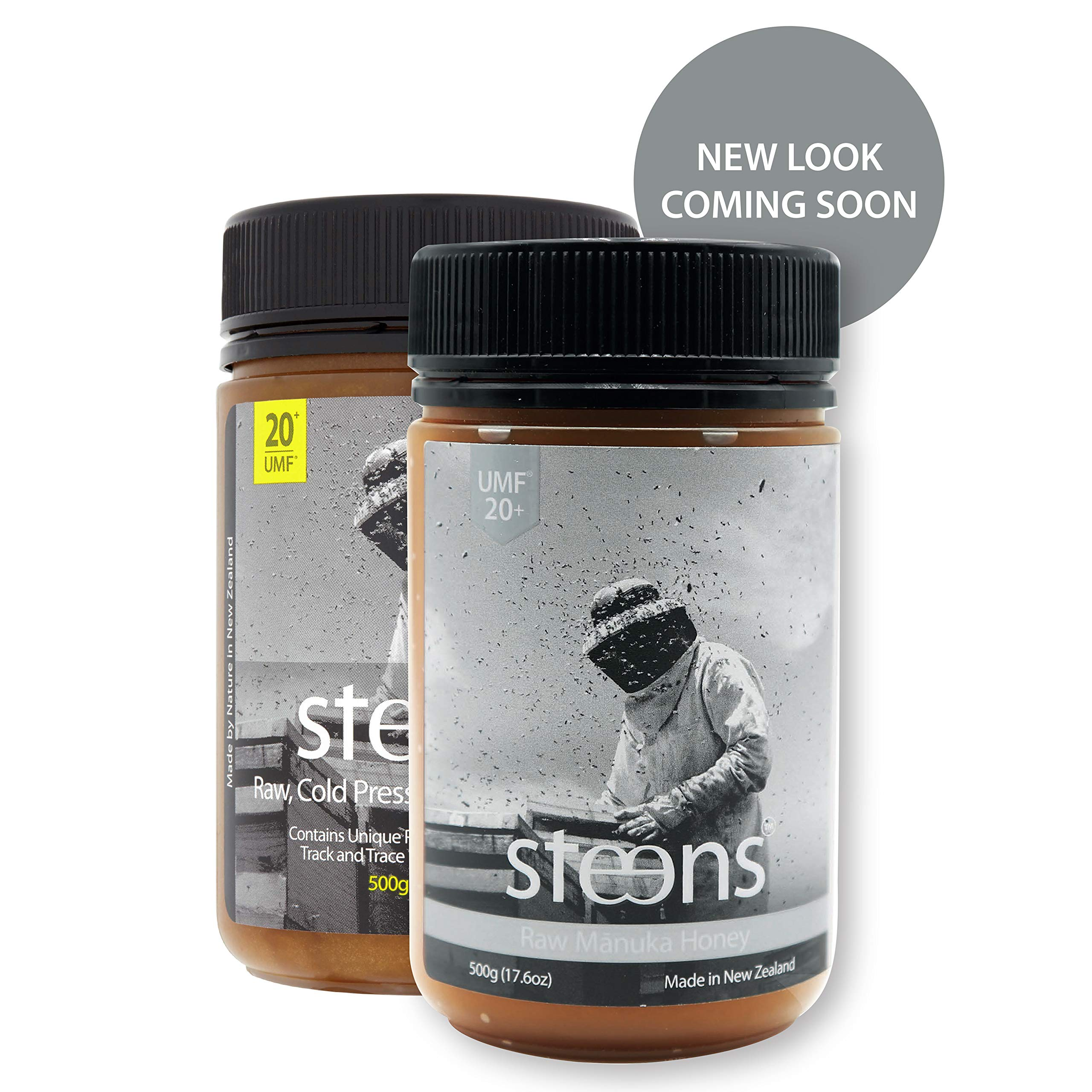 Steens UMF 20 Manuka Honey (MGO 829) 17.6 Ounce jar| Pure Raw Unpasteurized Honey From New Zealand NZ | Traceability Code on Each Label