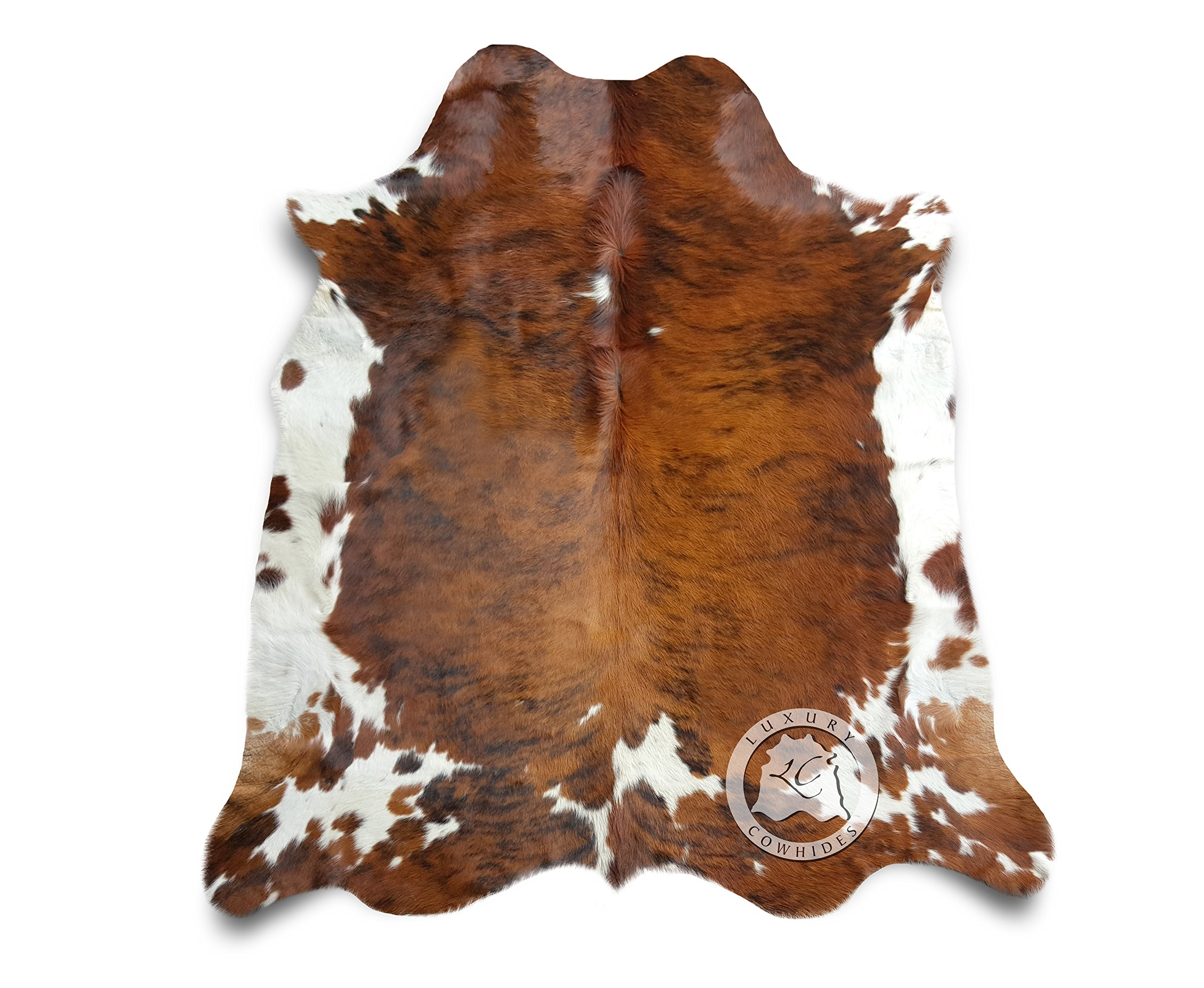Brindle Tricolor Cowhide Rug XL APPROX 6ft x 8ft 180cm x 240cm - Top Quality from LUXURY COWHIDES by Sunshine Cowhides