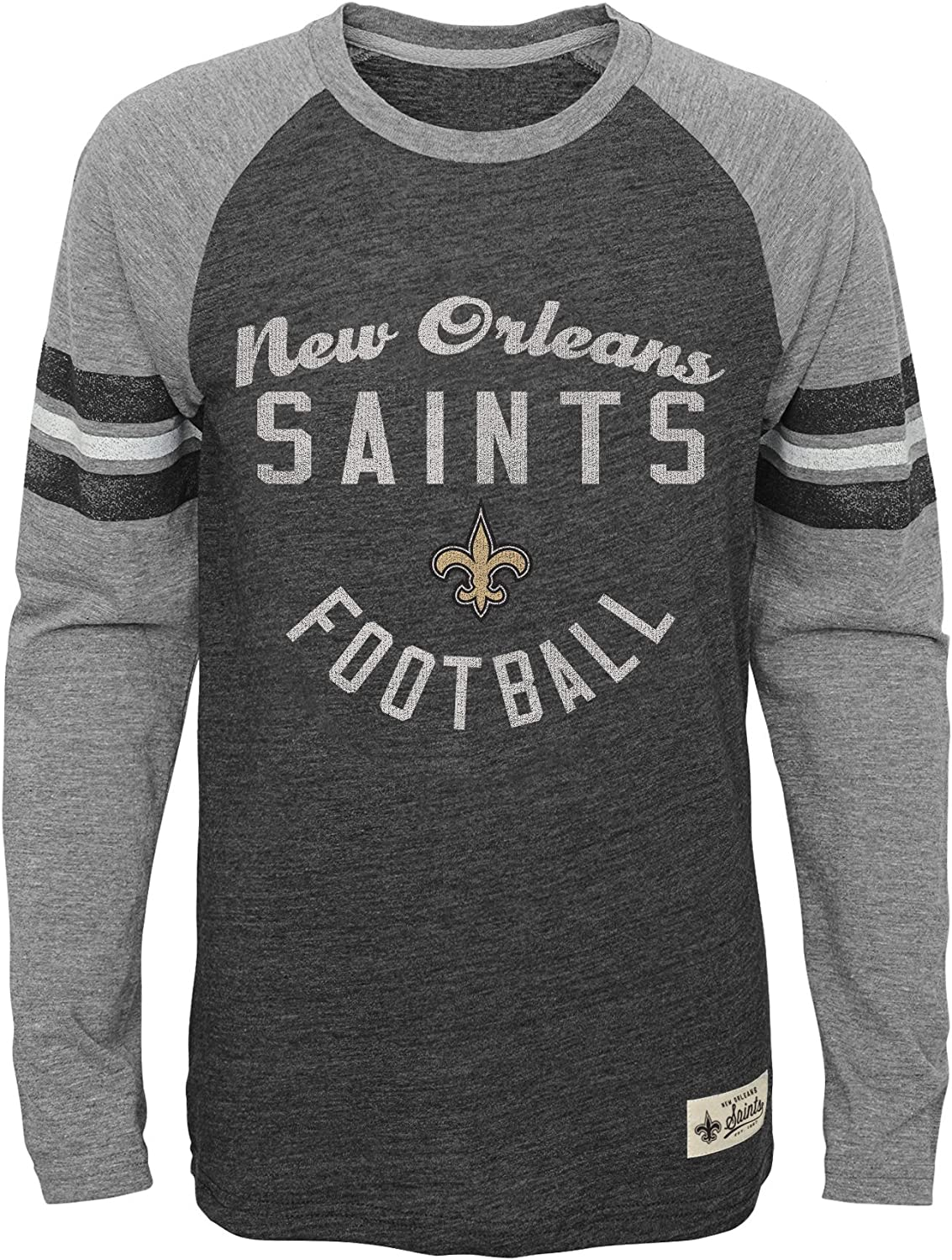 NFL by Outerstuff Boys NFL Kids /& Youth Football Pride Long Sleeve Tee Heather Black Kids Small 4
