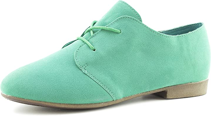 Link Womens Lace Up Faux Suede Flat