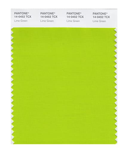 pantone smart 14 0452x color swatch card lime green house paint