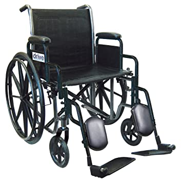 Drive Medical Wheelchair with Removable Desk Arms, Swing Away Footrest