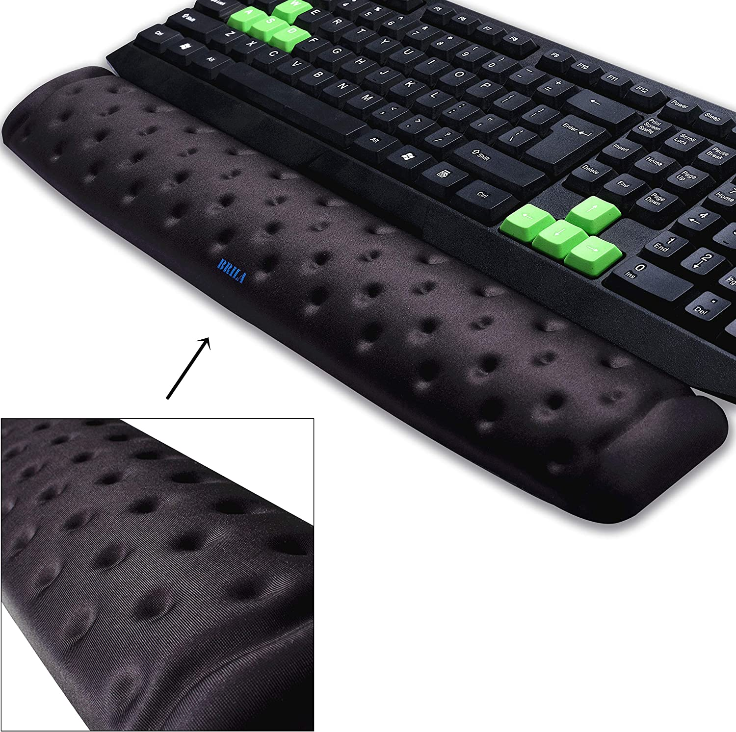 2 in 1 Keyboard Wrist Rest Pad Mouse Gel Memory Foam Gaming Mat For Computer Lap