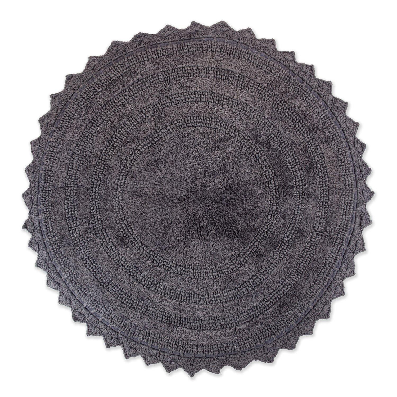 Amazon.com: DII Ultra Soft Spa Cotton Crochet Round Bath Mat or Rug ...