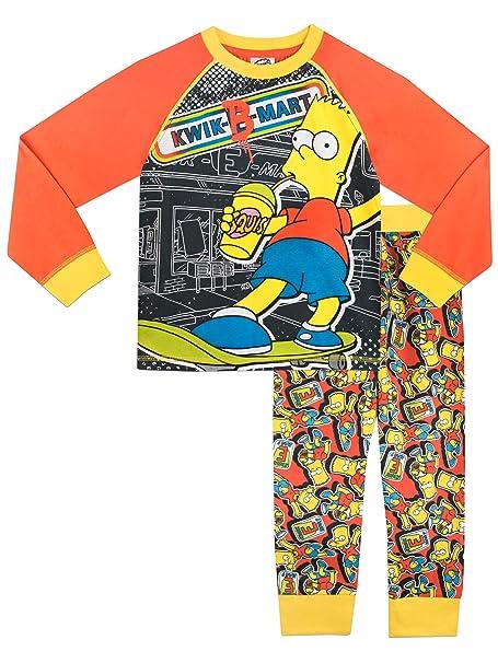 Simpsons - Pijama para Niños - Bart Simpson - 8 - 9 Años